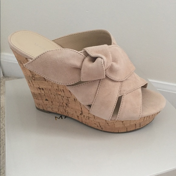 afca94a6a0 Marc Fisher Shoes | Nude Wedge Sandal New | Poshmark